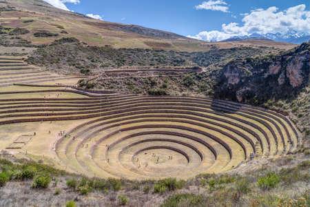inca: Moray - Inca agricultural terraces near Maras, Peru