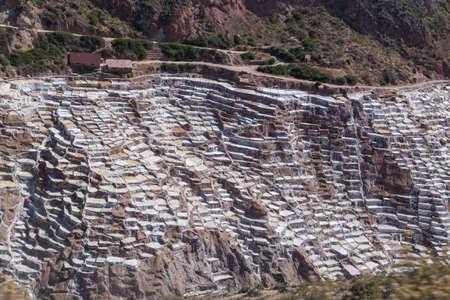evaporacion: Sal estanques de evaporación y minas construidas por los Incas en Maras, Perú
