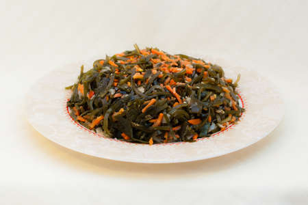 lejos: Seaweed salad with carrots and onions - seafood in Russian Far Eastern Cuisine