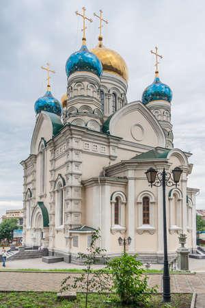 russian orthodox: Pokrovsky Russian Orthodox Cathedral in Vladivostok, Russia