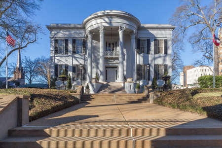 mississippi: Mississippi Governors Mansion in Jackson, Mississippi Editorial