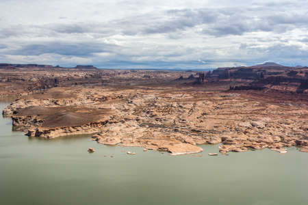 gunsight: Hite Marina Campground on Colorado River in Glen Canyon National Recreation Area