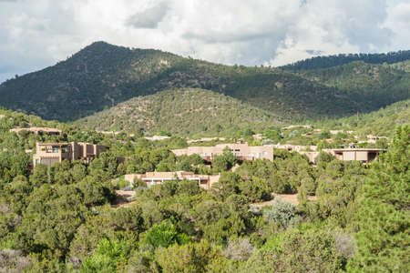 college dorm: Residential buildings around St. Johns College in Santa Fe, New Mexico