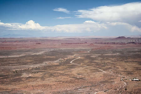 gods: View of Valley of the Gods from Moki Dugway, Muley Point Overlook, Utah, USA