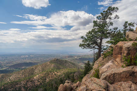 View of Santa Fe, New Mexico from Atalaya Mountain