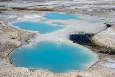 colloidal: Colloidal Pool at Norris Geyser Basin at Yellowstone National Park, Wyoming, USA