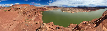 gunsight: Lake Powell and Colorado River in Glen Canyon National Recreation Area, Utah