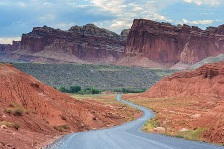 scenic drive: Scenic drive at Capitol Reef National Park, Utah, USA