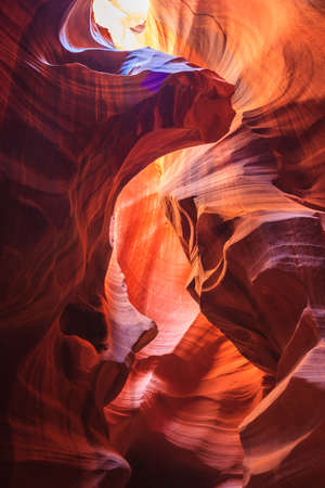 lower antelope: Colorful sandstone walls of Upper and Lower Antelope Canyon near Page, Arizona