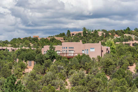 dormitories: Residential buildings around St. Johns College in Santa Fe, New Mexico