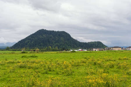 Rural view of village in Oregon, USA