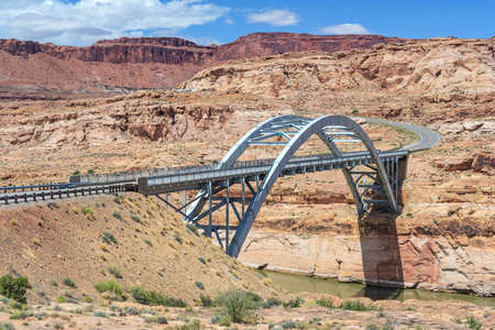 gunsight: Hite Crossing Bridge across Colorado River in Glen Canyon National Recreation Area