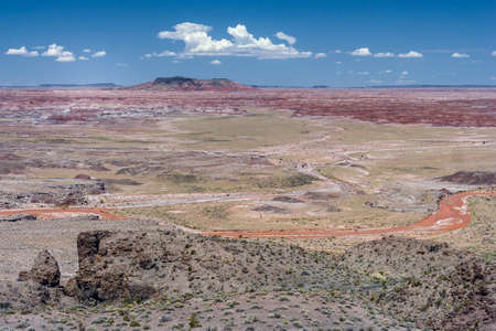 four corners: The Painted Desert, badlands in the Four Corners area of Arizona, USA