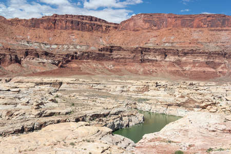 gunsight: Colorado River in Glen Canyon National Recreation Area Stock Photo