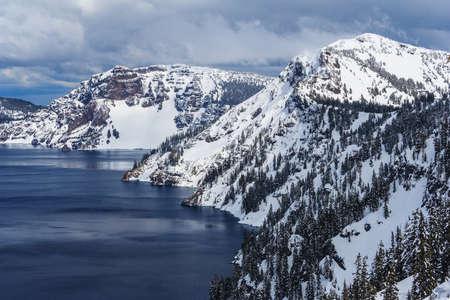 Caldera lake in Crater Lake National Park, Oregon, USA