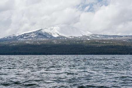 Diamond Lake recreational area in Oregon, USA