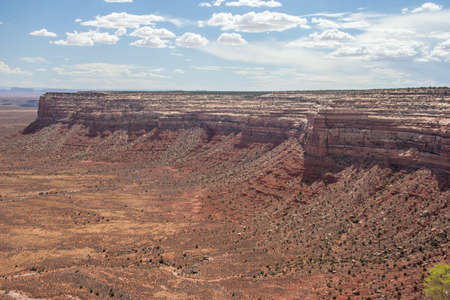 Northern Rim of Valley of the Gods viewed from Moki Dugway, Muley Point Overlook, Utah, USA