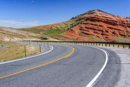 View of Wyoming, USA 版權商用圖片 - 58600954