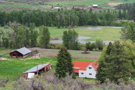 Country side view and farm land at Washington, USA