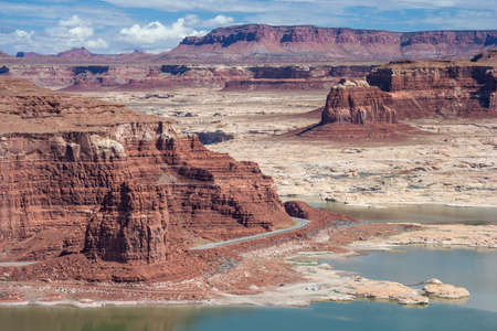 gunsight: Hite Marina on Lake Powell and Colorado River in Glen Canyon National Recreation Area