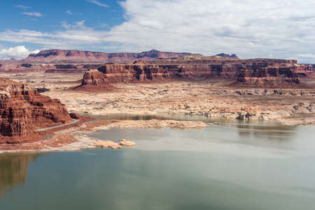 gunsight: Hite Marina and Colorado River in Glen Canyon National Recreation Area