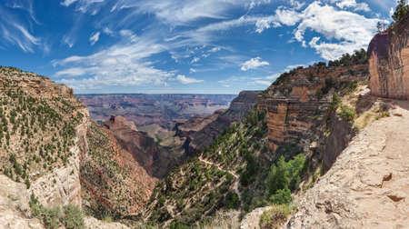 Start of Bright Angel Trailhead at Grand Canyon, South Rim, Arizona, USA