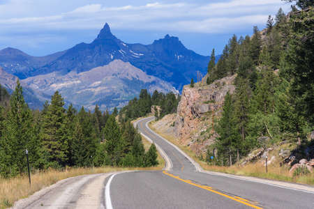 View of Montana Mountains, USA