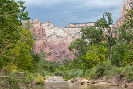 Virgin River in Zion National Park in Utah 版權商用圖片 - 58601068
