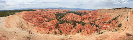 Panorama of Bryce Canyon National Park, Utah, USA 版權商用圖片 - 58601094