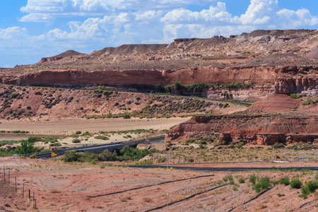 nation: View of Navajo and Hopi Nation Reservations in Arizona, USA