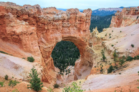 Stone Arch at Bryce Canyon National Park, Utah, USA 版權商用圖片 - 58601136