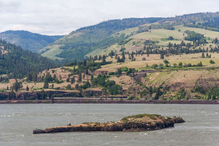 Columbia River Gorge, Pacific Northwest, between Oregon and Washington 版權商用圖片
