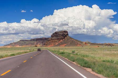ナバホ族とアメリカ、アリゾナ州のホピ族の国家予約の表示
