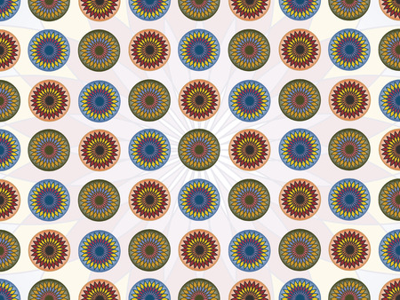 pattern with lotos flower in geometrical striktly order