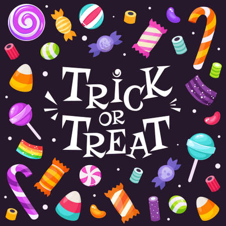 autumn, banner, basket, bat, bowler hat, candies, candy, candy cane, caramel candy, celebration, colorful, cookie, creepy, decoration, dessert, eerie, eye candy, festival, ghost, halloween, halloween 矢量图像