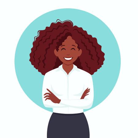 Black business woman. Black women empowering . Vector illustration. Ilustração