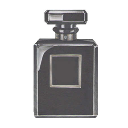 pulverizer: mens perfume in black bottle isolated