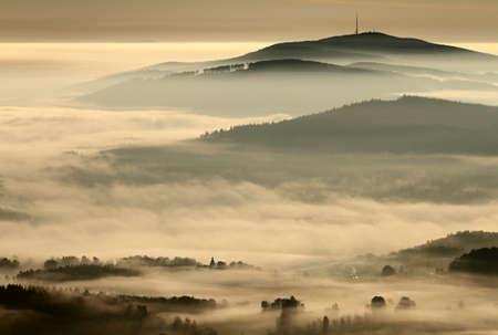 Foggy landscape Reklamní fotografie