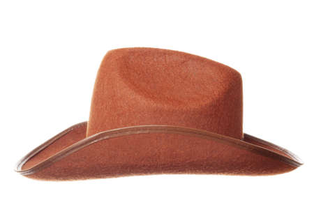 Brown cowboy hat isolated over white background Stock Photo - 6469879
