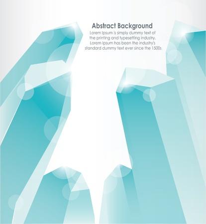 abstracte vormen: Kristallen prisma