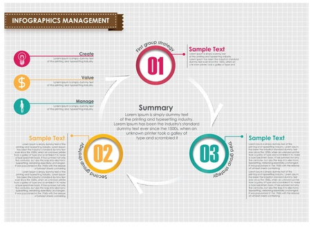 Infographic management vector design template Ilustrace