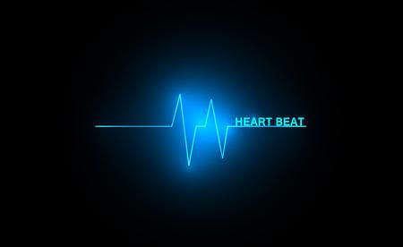 cardiograph: Abstract heart beats cardiogram illustration