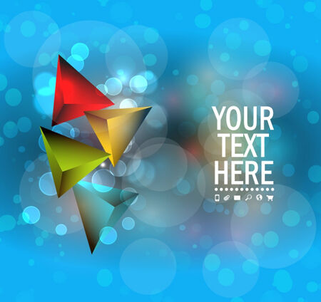 3d triangle: Abstract colorful  3D triangle background
