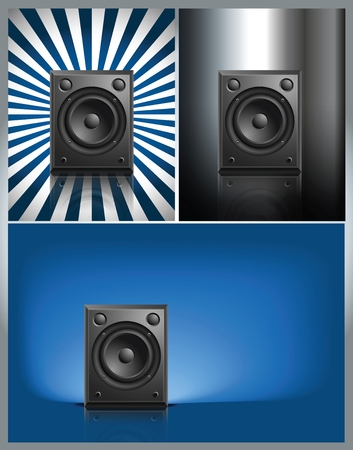 Black Loud Speaker Isolated on other Background, vector illustration Illustration