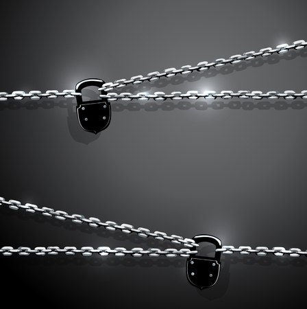 illustration of chain and padlock Vector