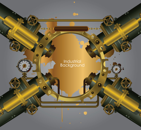 industrial complex: Vector industrial and engineering background Illustration