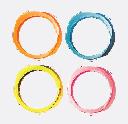 circle brush paint, Vector Illustration