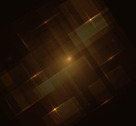 Brown Squares digital with Text - Vector Background.