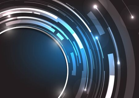 technology background: Abstract technology circles vector background.