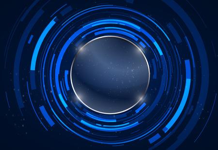 Résumé technologie cercles vecteur de fond.